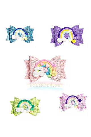 Glitter Rainbow HairClip for Girls