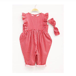 Ruffle Jumpsuit (Red)