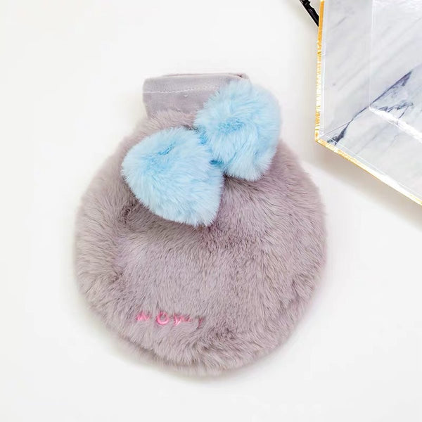 Cutie Pink/ Grey Hot Water Bottle