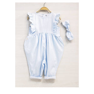 Ruffle Jumpsuit (Baby Blue)