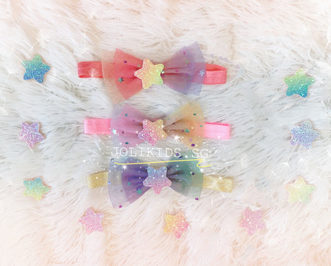 Handmade Starry Headband for Newborn Baby Toddler
