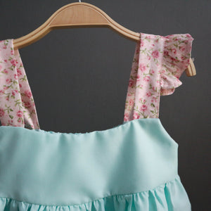 Petite Ruffle Flower Dress
