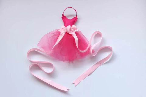 Little Ballerina Dress Hot Pink Hair Bow Organizer