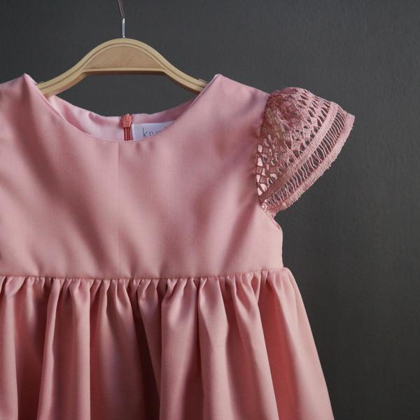 Balloon Lace Sleeve Dress