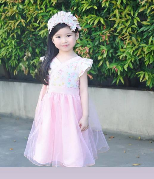 Modern Hanbok Tulle Dress w/ Adjustable Back