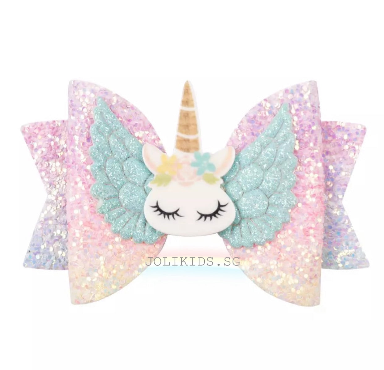 Unicorn w/ Angel Wing Alligator Hairclip