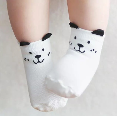 Black & White Anti-slip Bear Socks