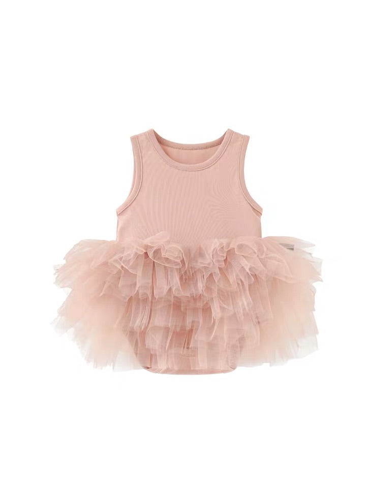 Tulle Romper Dress