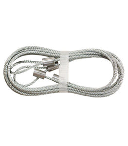 Pair of Garage Door Safety Cable-8 Ft.