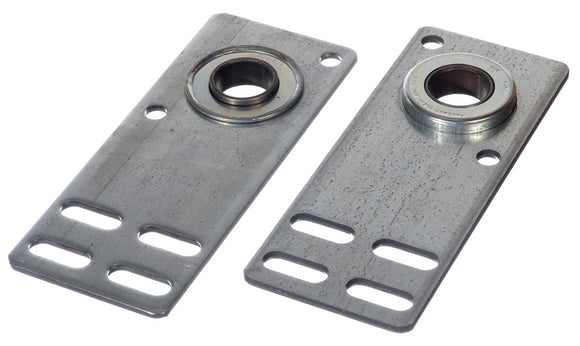 Garage Door Flat End Bearing Plates (pair)