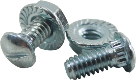 Track Bolt Zinc and Serrated Flange Nut Zinc - 2/pk