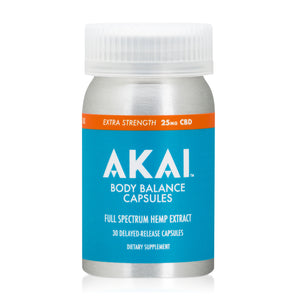 AKAI Life CBD 25MG capsules full spectrum hemp extract