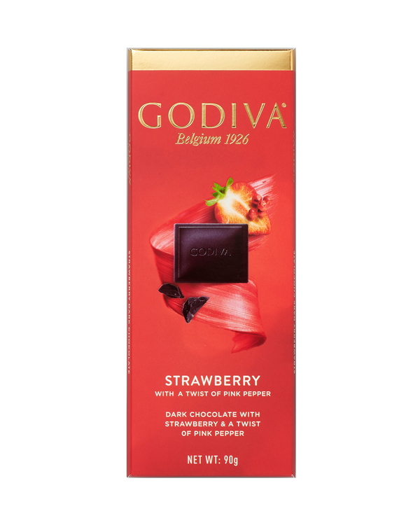 Dark Chocolate & Strawberry Tablet, 90g