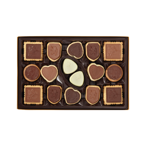 Assorted Chocolate Biscuits, 32 Pieces | 245g