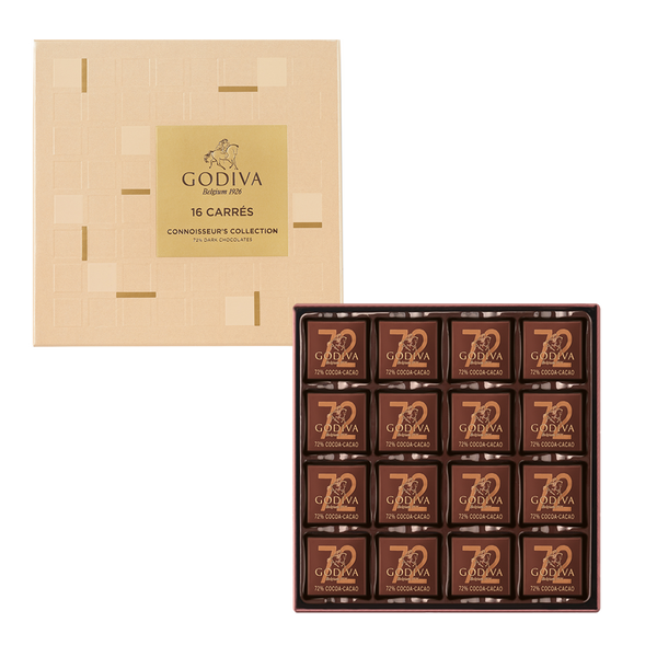 Mother's Day Carrés 72% Dark Chocolates, 16 Pieces | 80g