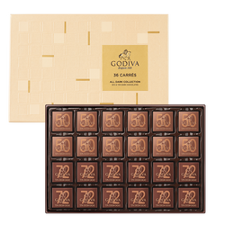 Carrés Assorted Dark Chocolate Gift Box, 36 Pieces | 185g