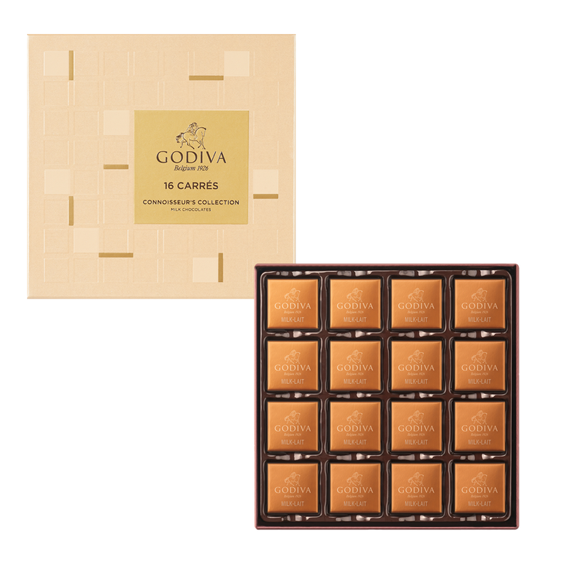 Carrés Milk Chocolate Gift Box, 16 Pieces | 80g
