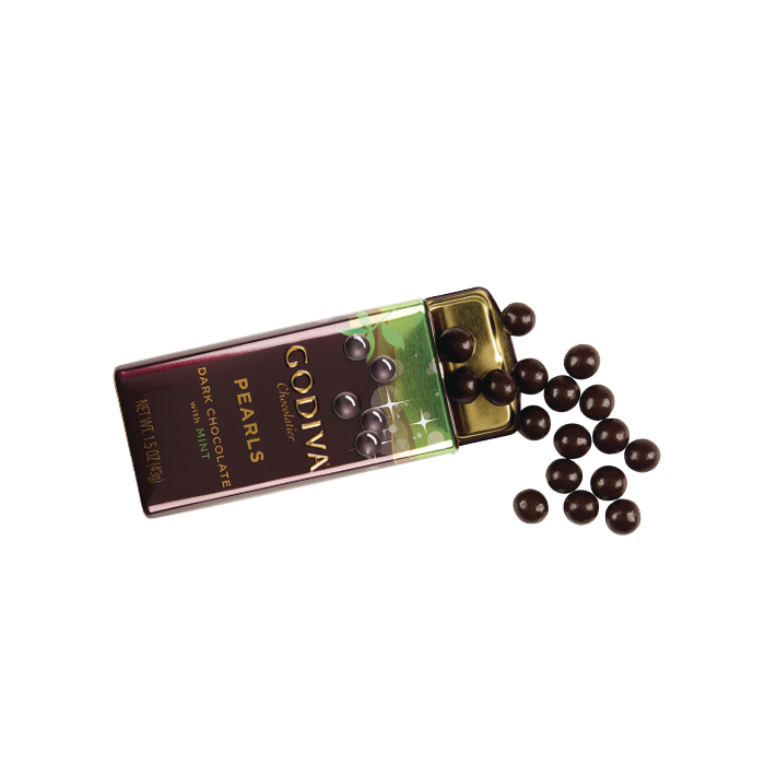 Dark Chocolate with Mint Pearls, 43g