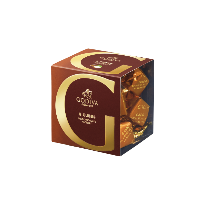 G Cube Milk Chocolate Hazelnut, 5 pieces | 40g