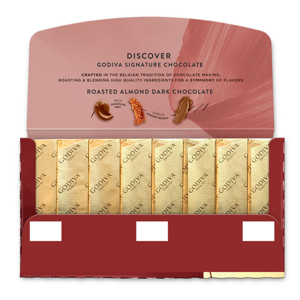 Signature Mini Bar - Roasted Almond 72% Dark Chocolate, 90g
