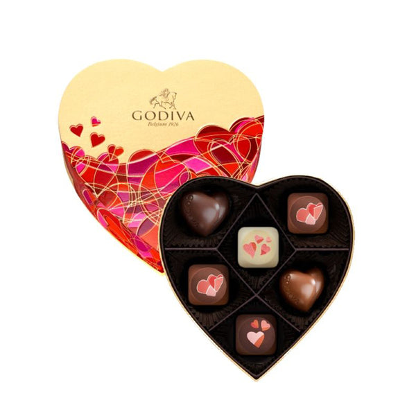 Valentine's Day Heart Box, 6 Pieces | 70.5g