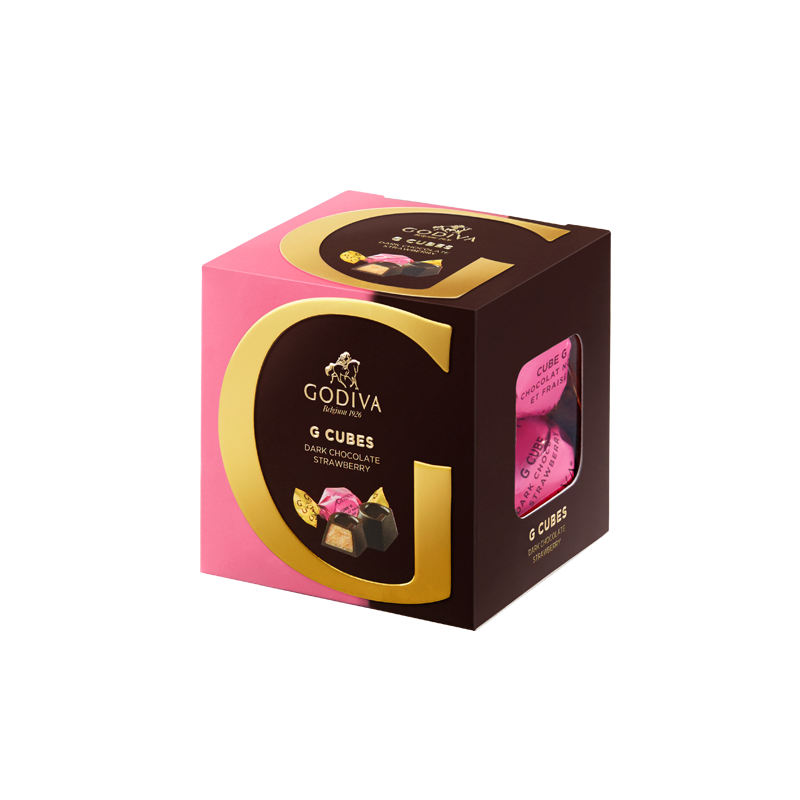 G Cubes Dark Chocolate Strawberry, 5 Pieces