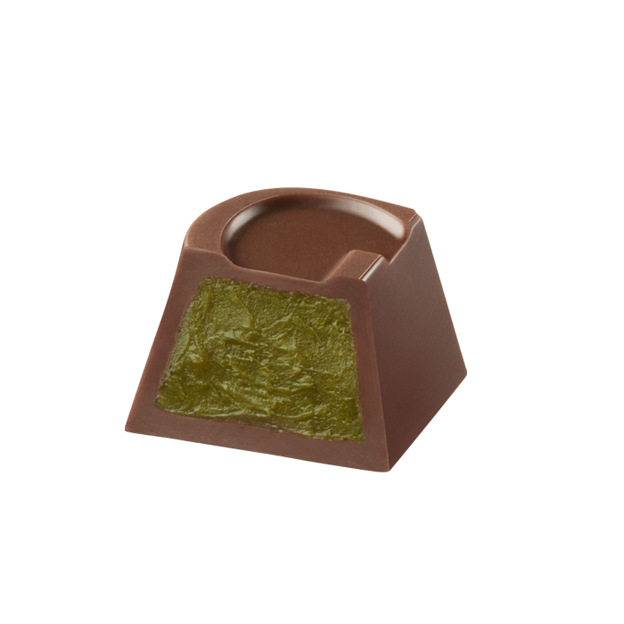 G Cube Milk Chocolate Matcha, 5 pieces