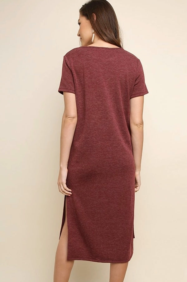 Knit Pocket Midi Dress