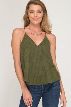 Pin Stripe V-neck Cami