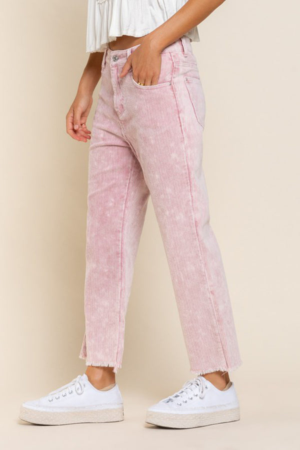 Blush Cropped Corduroy Pants