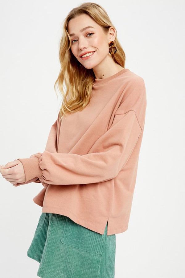 Blush Casual Oversized Sweatshirt