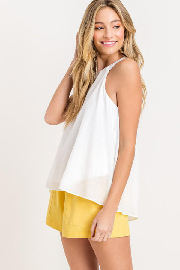 Sleeveless Halter Top
