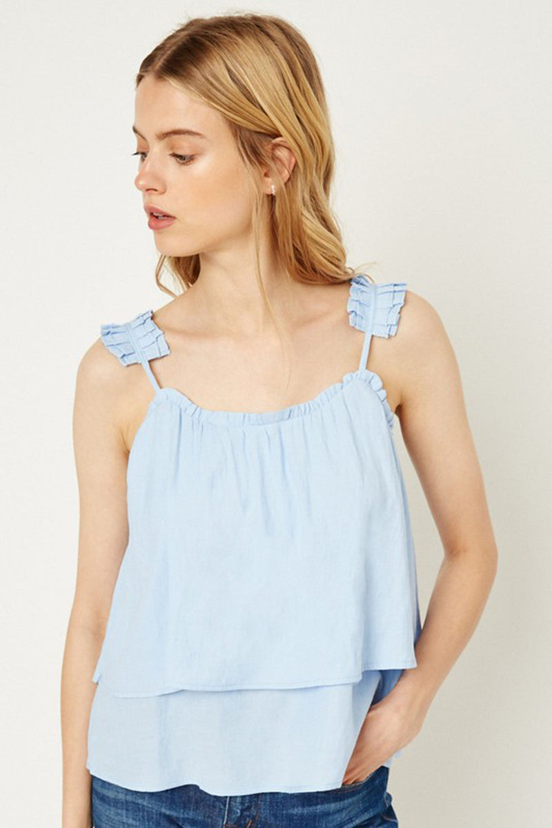 Tiered Ruffle Strap Cami