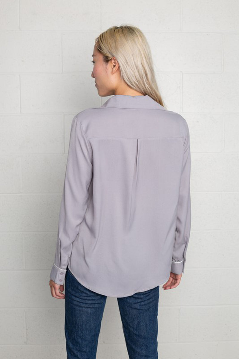Lavender Button Up Blouse