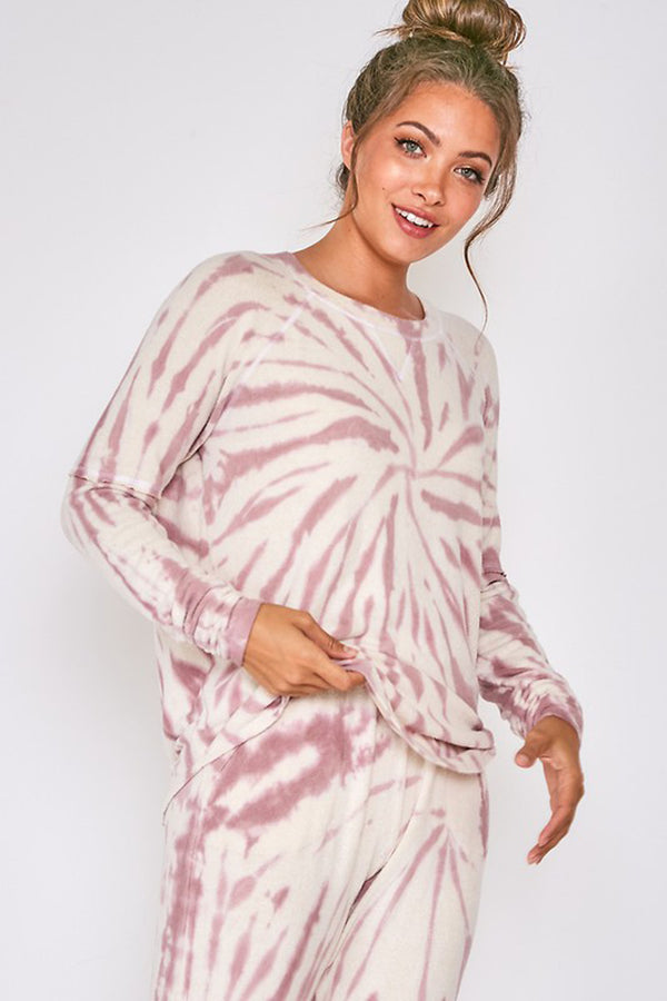 Long Sleeve Tie Dye Lounge Top