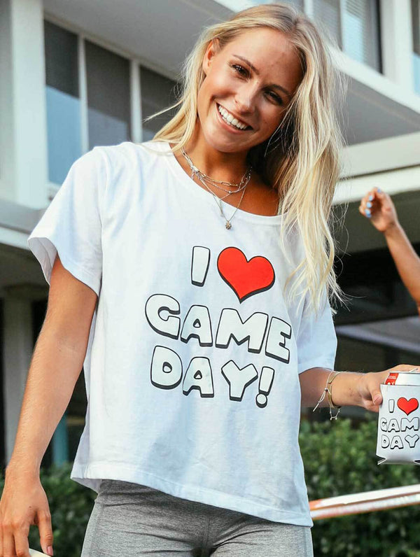 Charlie Southern I Heart Game Day Crop Tee