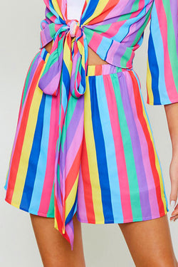 Rainbow Stripe Shorts