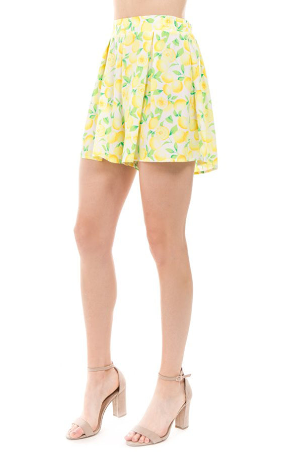Flowy Lemon Shorts