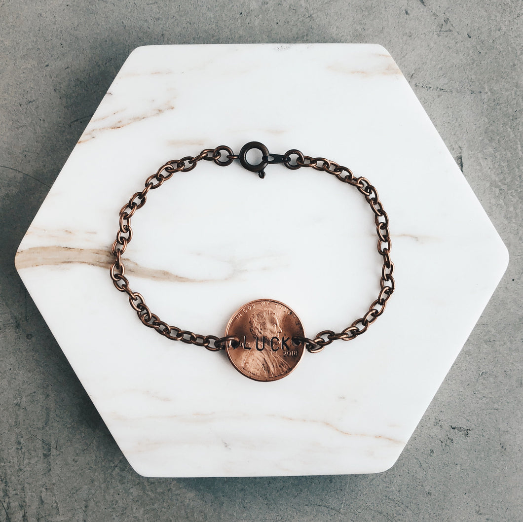 Cheap Luck | Copper Chain Lucky Penny Bracelet