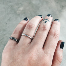 Load image into Gallery viewer, Stacker Ring Set | Braid & Hammered - Size 3 and 5.5