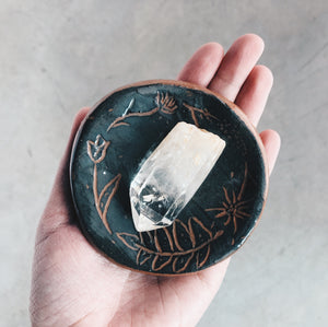 Extra Small Floral Ceramic Dish