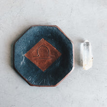 Load image into Gallery viewer, Libra Zodiac - Octagon Ceramic Dish