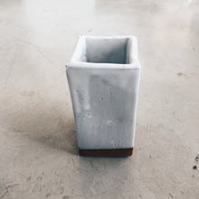 Load image into Gallery viewer, Modern Square Terra Cotta and White Ceramic Vase