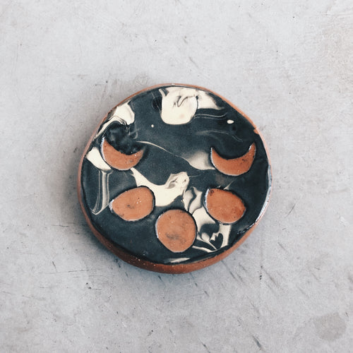 Small Moon Phases and Marbled Ceramic Dish