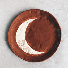Load image into Gallery viewer, Crescent Moon and Crystal - ceramic dish