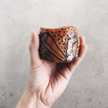 Load image into Gallery viewer, Crystal and Terra Cotta Small Ceramic Planter