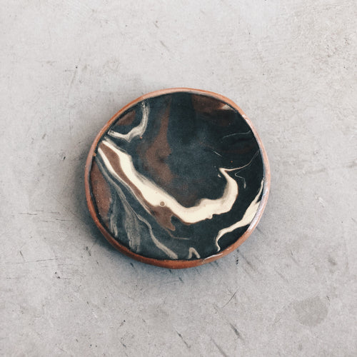 Extra Small Marbled Ceramic Dish