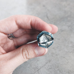 Mountain Range Rollerball Necklace - Quartz Compass Explorer