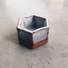Load image into Gallery viewer, Modern Hexagon Terra Cotta and White Ceramic Planter
