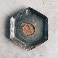 Load image into Gallery viewer, Hexagon tea-light holding ceramic dish